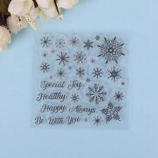 Navidad copos nieve sellos silicona bricolaje scrapbooking tarjeta papel artesPD