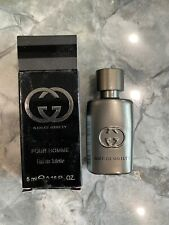 New Designer GUCCI GUILTY INTENSE POUR HOMME Men (5ML) EDT SPLASH MINI Travel