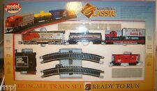 HO TRAINS SANTA FE CLASSIC TRAIN SET  1028 SF  WITH TRACK & POWER SUPPLY