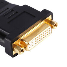 New HDMI Male to DVI DVI-I 24+5 Female HDTV Coupler Connector PC to TV