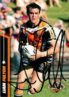 ✺Signed✺ 2007 WESTS TIGERS NRL Card LIAM FULTON