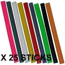 25 x 7mm Coloured Colour Hot Melt Glue Gun Sticks Adhesive for Hobby Craft Etc