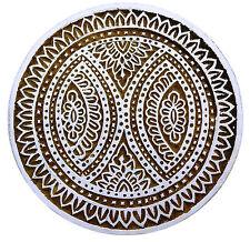 Tampons de bois textile impression de main sculpté de motifs floraux décoratifs