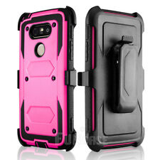 For LG G5 Shockproof Silicone Rubber Holster Belt Clip Armor Hard Case Cover