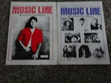 LOT OF 2 MUSIC LINE MAG JULY & AUG 1982! PAUL McCARTNEY! GREAT COND! AUBURN, ME