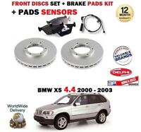 Para BMW X5 4.4 286bhp E53 2000-2003 Discos Freno Delantero Set + Pastillas Kit