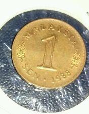 Malaysia Coin 1 cent sen 1988 3 dot Rare Error EF