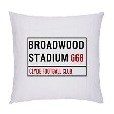 CLYDE FOOTBALL CLUB FOOTBALL GROUND STREET SIGN CUSHION / PILLOW INC PADDING.