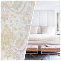 NEW Designer Burnout Chenille Velvet Fabric- Pearl White Ivory Damask Upholstery