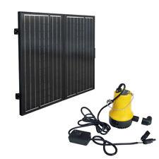 120W Folding Solar Panel Module + 12V Deep Water Pump farm Ranch Pond Watering