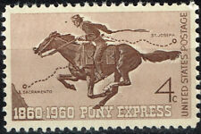 US Pony Express Horse stamp 1960 MNH