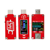 "USB-C Full Color LCD 1.44"" UT25 TC64 Current Voltage Power Capacity Meter Tester"