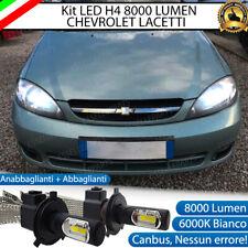 KIT FULL LED CHEVROLET LACETTI LAMPADE LED H4 6000K BIANCO GHIACCIO NO ERROR