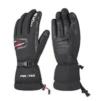 -40℃ Warm Winter Ski Gloves Genuine Leather Snow 3M Thinsulate Waterproof Mens