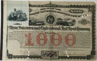ROME WATERTOWN & OGDENSBURGH RAILROAD CO 1904 Issued/Cancelled Mortgage Bond