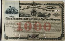 Mortgage Bond ROME WATERTOWN & OGDENSBURGH RAILROAD CO 1904 Issued/Cancelled