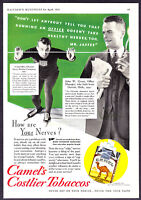1934 Olympic Speed Skating Champion Irving Jaffee photo Camel Cigarettes Ad