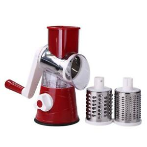 Rotary Cheese Grater Kitchen Vegetable Fruit Slicer Shredder Chopper Grinder