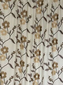Stunning Harlequin OPHELIA CREWEL EMBROIDERED curtains Thermal Blackout 2 pr av