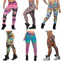 Authentic Brazilian Legging Fitness Colored pattern Carioca legging S/M NEW