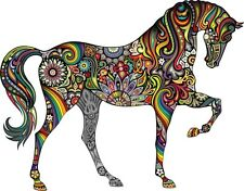 Bright colourful Horse sticker for ipad laptop car - HIGHEST QUALITY VINYL