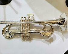 Customized  Silver plating Trumpet Professional flumpet horn + Case mouthpiece