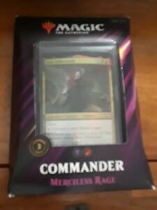 Magic the Gathering 2019 Commander Deck Merciless Rage  Factory Sealed NEW