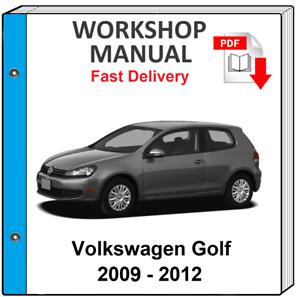 VW VOLKSWAGEN GOLF MK6 2009 2010 2011 2012 SERVICE REPAIR MANUAL WORKSHOP