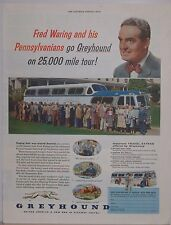Original 1955 Greyhound Bus Magazine Ad with Fred Waring