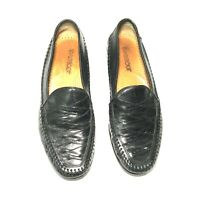 Brass Boot Mens Walking Glove Loafers Dress Shoes Size 10M Black Leather 10 M