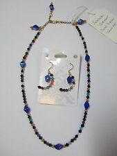 and Earring Set Birthstone-themed Crystal Necklace
