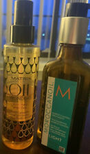 Lot 2 Hair Treatments Morrocan Oil Treatment Light & Matrix Hibiscus Oil