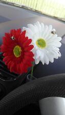 2 x Gerbera Daisy Dashboard Car Flower for VW Beetle Bug Fiat Mini Vase + GIFT