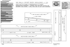 68 Camaro RS Lower Rocker Panel Trim Molding Template