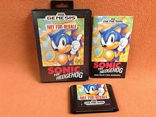 Sonic the Hedgehog Sega Genesis Game Super Fast FREE SHIP Complete CIB!
