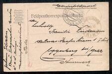 1915, Hungary Naval card, ship 'ZRINYI' circular date ship cancel, VF