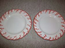 "2 Vintage Fitz & Floyd Raised Coral Serving Charger Plate 12 1/2"" Dinner Ocean"