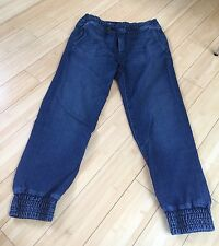 Designer MOTHER Drawstring Crop Trainer Jeans Denim Pants Everyday Size 24 0