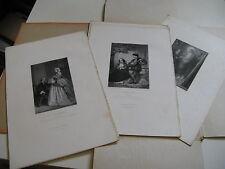 SUITE DE 7 GRAVURES Pour OEUVRES ALFRED DE MUSSET 1880 Signée ALEXANDRE BIDA