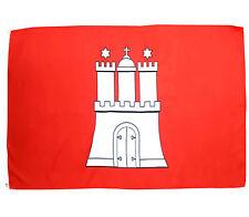 Fahne Hansestadt Hamburg 90 x 150 cm hamburgische Hiss Flagge Bundesland BRD