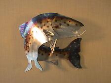 TROUT RAINBOW BROWN FISH FISHING METAL STEEL WALL ART LOG HOME CABIN LODGE DECOR