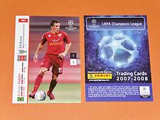 TADDEI AS ROMA GIALLOROSSI FOOTBALL CARDS PANINI CHAMPIONS LEAGUE 2007-2008