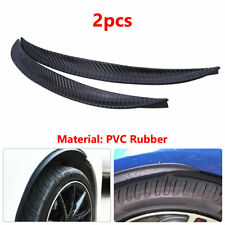 2X Car Wheel Eyebrow Arch Trim Lips Fender Flares Protector Kit With Paste film