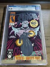 SILVER SURFER V3 #50 CGC 9.8 WHITE PAGES EMBOSSED SILVER FOIL COVER