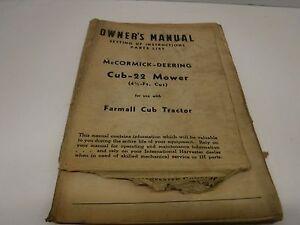 1948 McCormick-Deering Cub-22 Mower Owner's Manual