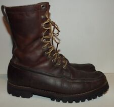 VTG Gokey Botte Sauvage Brown Leather Moc Toe Hunting Lace Boots Men's Size 8