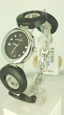 Fossil ES1986 ladies watch  brown wood bracelet ES-1986 analog 5 ATM