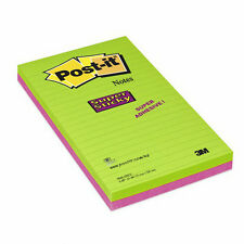 2Pads, 3M Post-it Super Sticky Note 124x200mm Ultra Colours  5845-SSEU