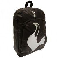 Tottenham Hotspur Backpack Official Merchandise Spurs Rucksack School Bag Black