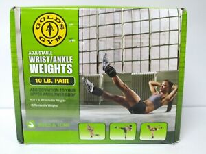 GOLDS GYM 10 lb. Pair Adjustable Ankle Weights Fitness Workout - NEW Open Box